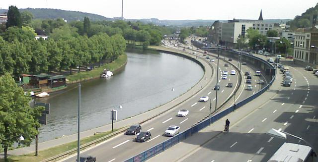 Saarbrücken, Saar und Autobahn