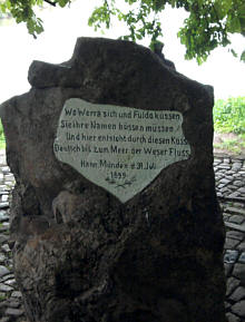 Hann.Münden, Weserstein
