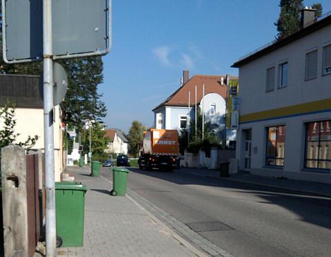Gunzenhausen, Straße am Morgen