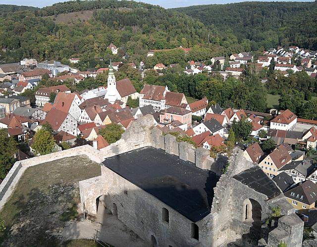 Pappenheim, Stadt unter der Burg