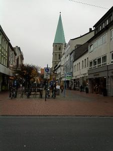 Hamm, Fußgängerzone mit Pauluskirche