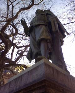 Köthen, Denkmal für Fürst Ludwig (nicht der mit Bach, der mit der 'Fruchtbringenden Gesellschaft)
