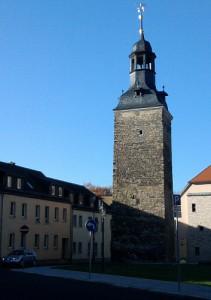 Köthen, Turm aus der mittelalterlichen Stadtmauer