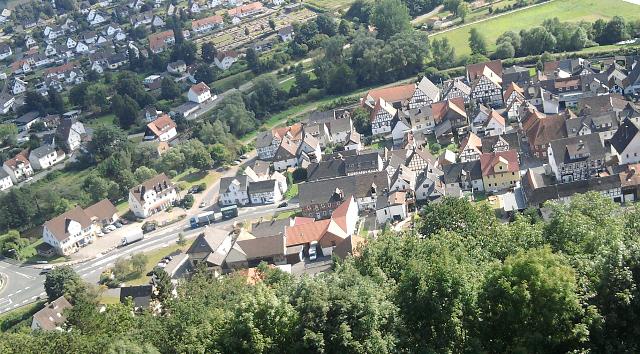 Helmarshausen (Bad Karlshafen), von der Krukenburg aus gesehen