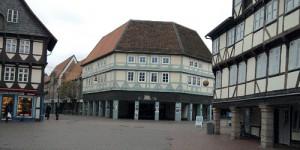 Wolfenbüttel, Fachwerk 3 (Mitte: Ex-Karstadt-Kaufhaus)