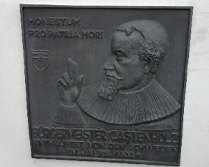 Linz, Gedenktafel für 1632 enthaupteten Bürgermeister