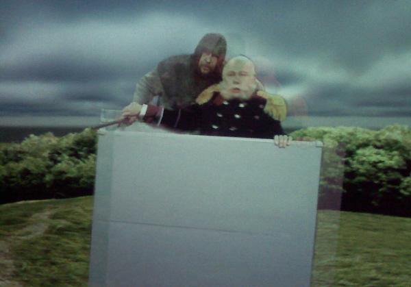 Greiz, Zeitreisefilm (eigentlich 3-D) im Museum mit Heinrich I. und Wilhelm I.