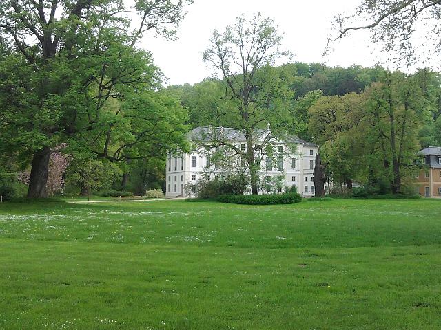 Greiz, Sommerschloss im Greizer Park (vor der Flut)
