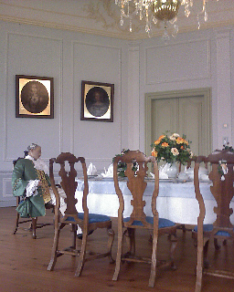 Greiz, eingenickter Aristokrat im Museum (oberes Schloss)