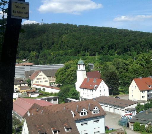 Königsbronn von oben (Gießerei, Klosterkirche)