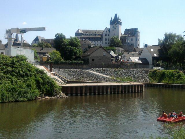 Diez, Grafenschloss (nicht Oranienstein!) über der Lahn