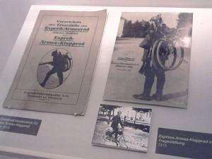 Neumarkt, Militärfahrräder-Material im Stadtmuseum