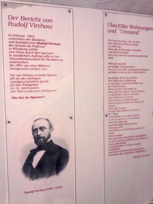 """Lohr, Rudolf Virchows """"Noth im Spessart"""" (im Spessartmuseum)"""