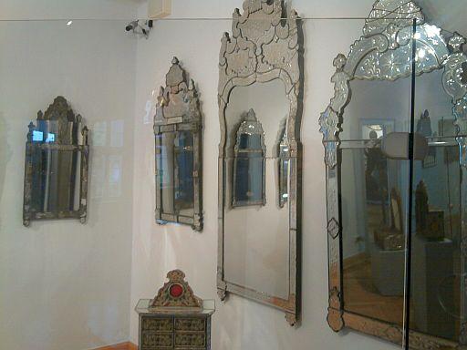 Lohr, Spiegel aus der Kurmainzer Manufaktur im Spessartmuseum