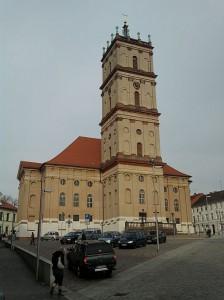Neustrelitz, Stadtkirche mit Turm im Campanile-Stil