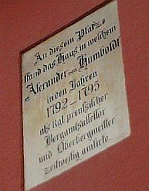 Goldkronach, Alexander von Humboldt-Reminiszenz