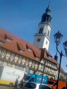 Celle, Fachwerk und Stadtkirchen-Turm