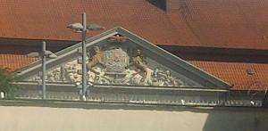 Celle, Wappen am Zucht-, Werk- und Tollhaus
