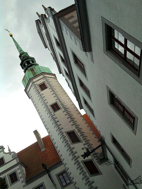 Doberlug, restaurierter Turm des Schlosses