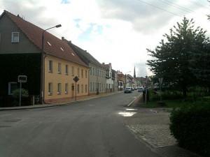 Doberlug, noch eine schnurgerade Planstadt-Straße