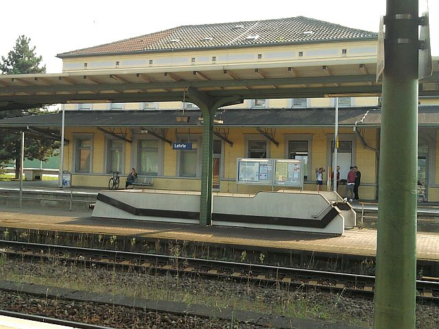 Lehrte, das Bahnhofs-Gebäude von 1844