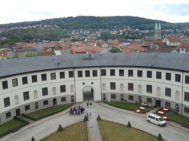 Meiningen, Blick aus dem Schloss auf die Stadt
