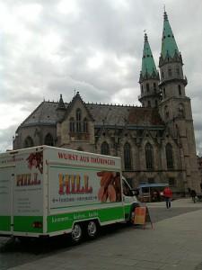 Meiningen, Marktplatz und Kirche