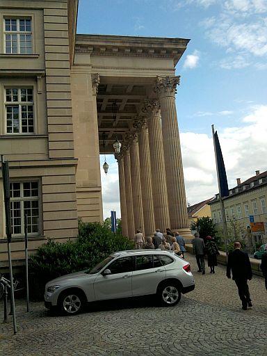 Meiningen, Theater vor Vorstellungsbeginn