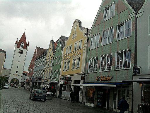 Mindelheim, Oberes Tor an der Maximilianstraße