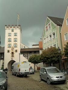 Mindelheim, noch'n Turm (Einlasstor)