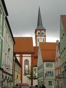 Mindelheim, Turm der Stadtpfarrkirche St. Stephan