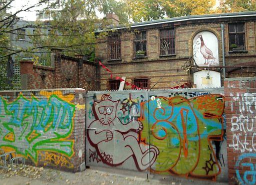 Bad Berlin, wo die Quelle wohl gesprudelt hat (heute: Hinterhof)