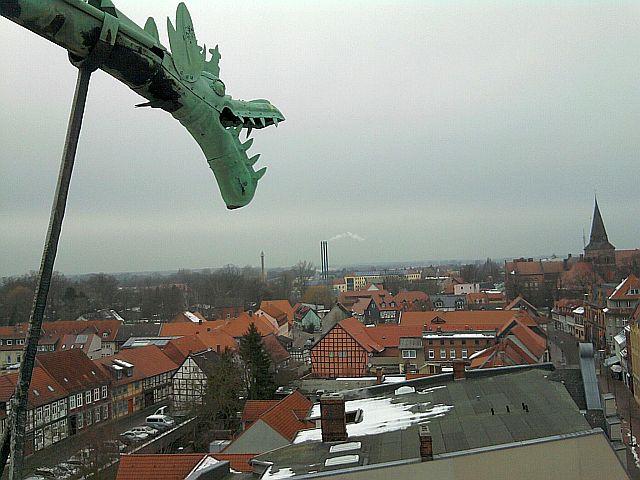 Salzwedel, Blick vom Rathausturm