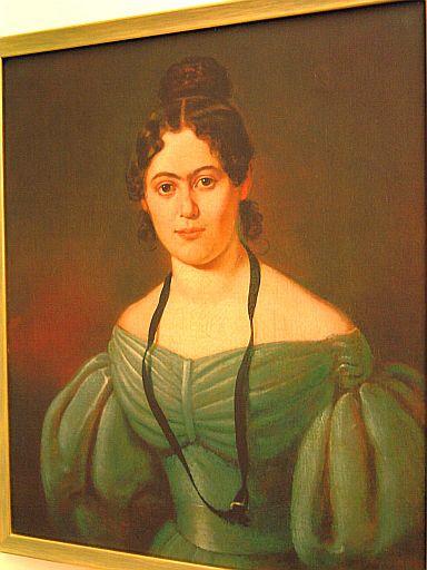 Salzwedel, Jenny-Marx-Gemälde im Marx-Haus (Kopie eines Gemäldes eines unbekannten Malers)