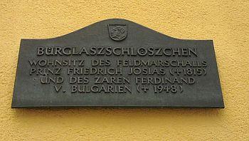 Coburg, Erinnerungstafel für Ferdinand von Bulgarien