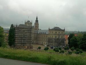 Coburg, Schloss Ehrenburg (bei sehr schlechtem Wetter)