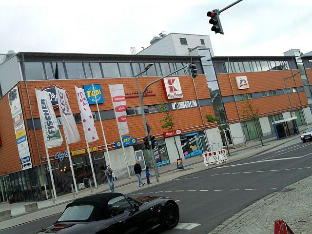 Marktredwitz, Einkaufszentrum (an der Stelle der vielleicht ersten chemischen Fabrik Deutschlands)