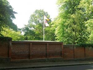 Friedrichsruh, schon von Otto von Bismarck zum Schaulustige-Abhalten genutzte Mauer