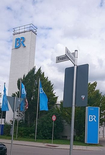 Unterföhring, Ecke Medienallee/ Rivastraße