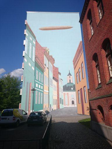 Schwedt, große Wandmalerei