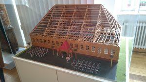 Pirmasens, Modell der Exe-Halle im Museum