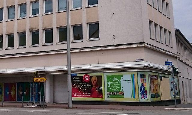 Pirmasens, ehemaliges Kaufhaus mit Landgraf-Ludwig-Motiven