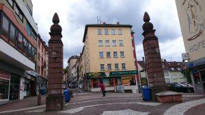 Pirmasens, Stadttor-Reste in der Fußgängerzone