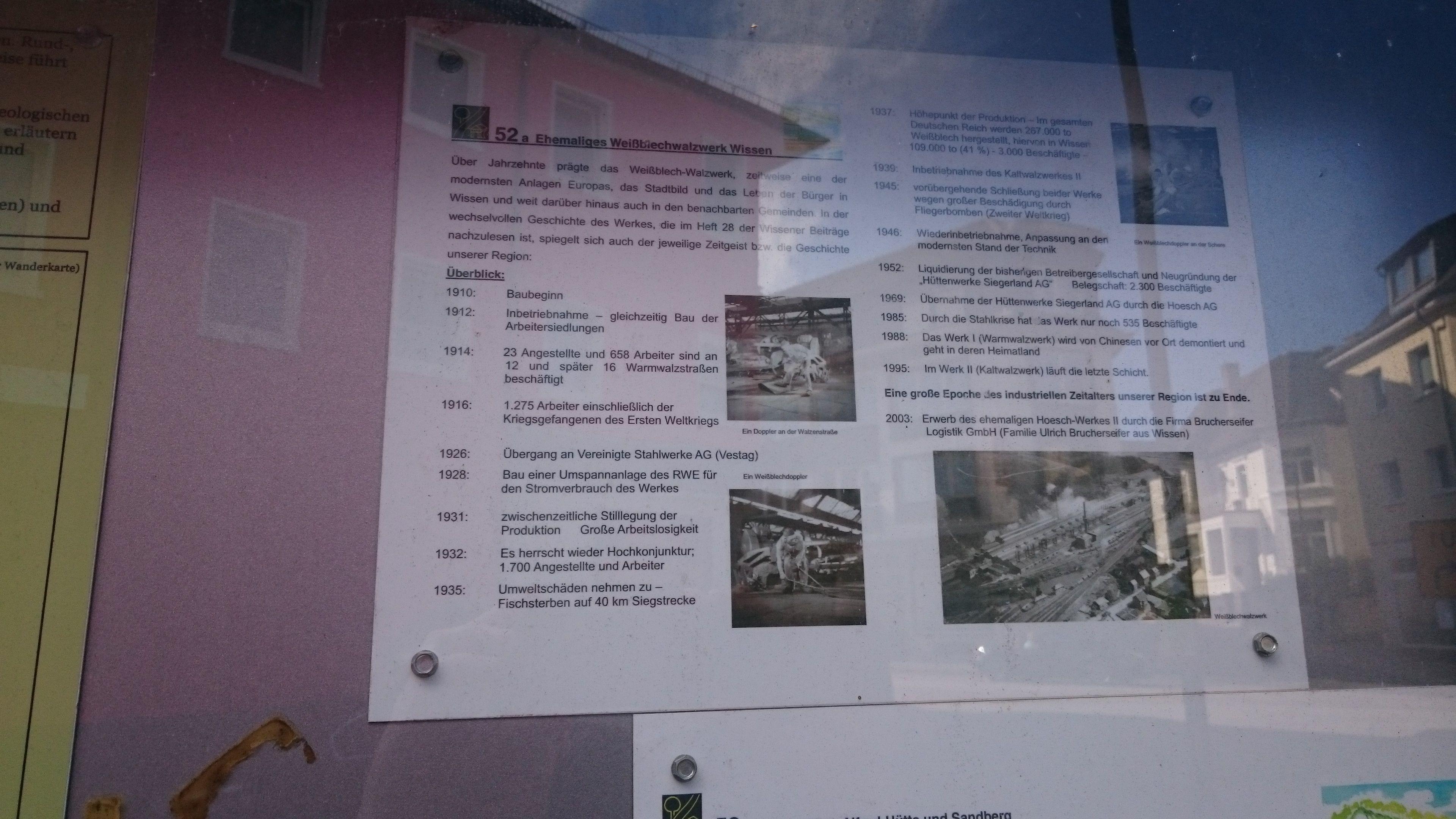 Wissen, Übersicht zur Walzwerke-Geschichte