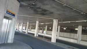 Wissen, unterm imposanten Regiobahnhof