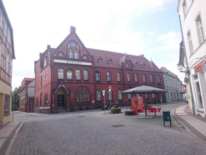 Perleberg, das neogotische Postamt