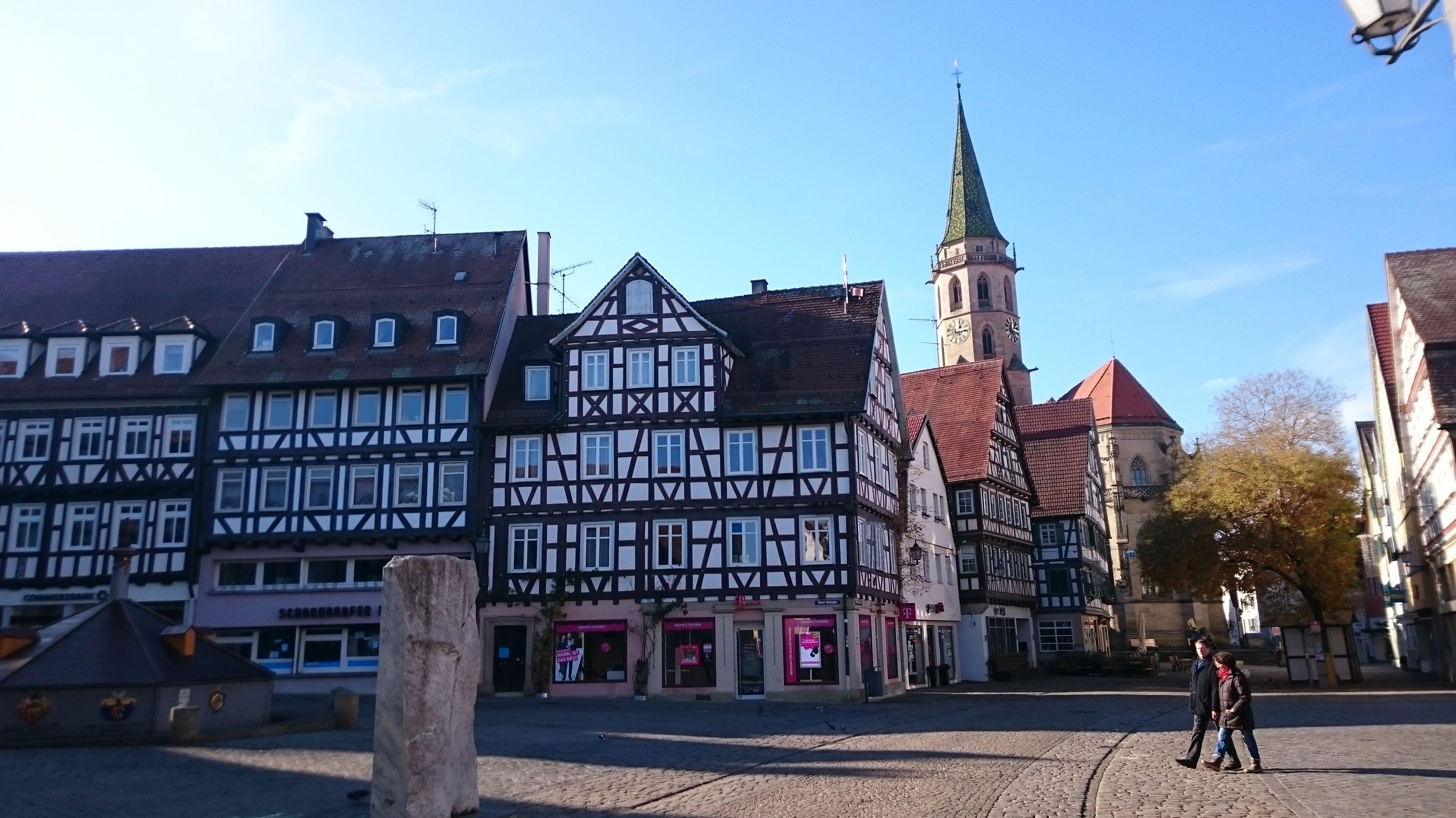 Schorndorf, noch mehr Fachwerk am Marktplatz