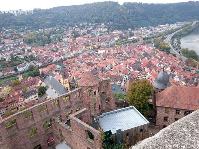 Ruine der Burg Wertheim überm Main