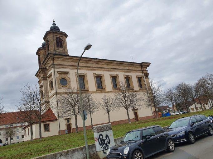 Ludwigshafen-Oggersheim, alte Schlosskirche Mariä Himmelfahrt