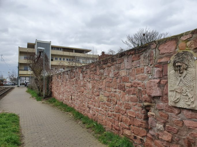Ludwigshafen-Oggersheim, alte Stadtmauer